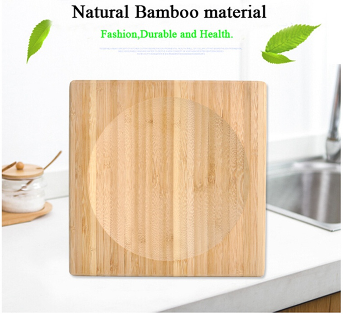 Bamboo Herb /Spice Cutting Board with Corner Double Blade Knife