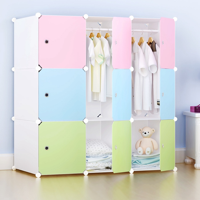 DIY Plastic Wardrobe Storage Cabinet for Children
