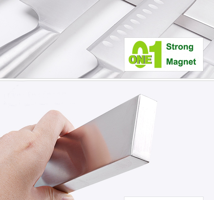 Stainless Steel Magnetic Bar Knife Wall Holder