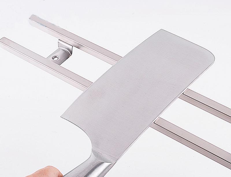 Square Tube Stainless Steel Magnetic Bar Knife Wall Holder