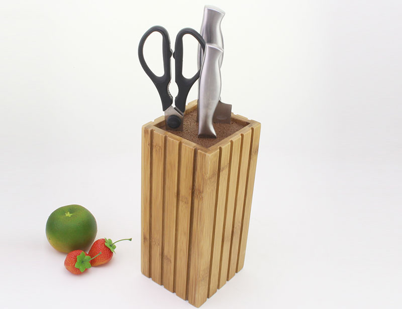 High Quality Free Insert Bamboo/ Wooden Square Knife Block