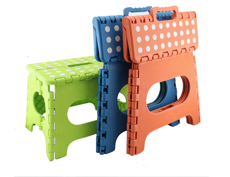 Kid's Portable Plastic Folding Stool