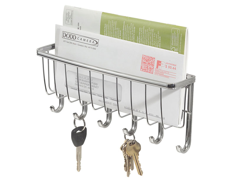 Key and Letter Storage Holder with Hook