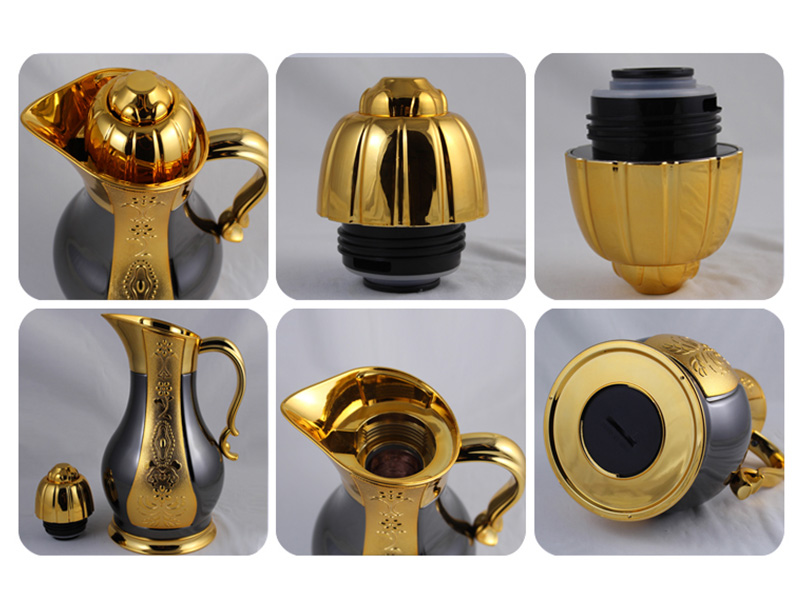 Hot Selling Fashionable Metal Outer Glass Inner Vacuum Jug Thermos Flask