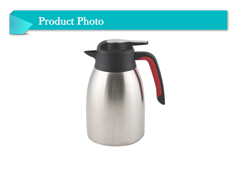High Grade Vacuum Double Wall Stainless Steel Coffee Jug Thermos Flask