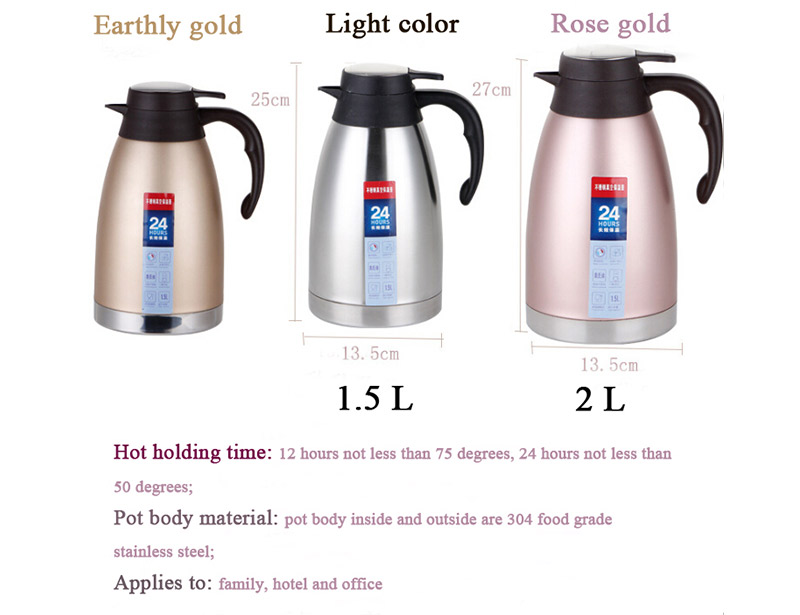 Wholesale Stainless Steel Water Coffee Jug Thermos Flask