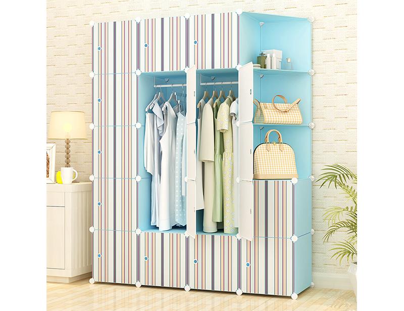 Mediterranean Style DIY Plastic Wardrobe Storage Cabinet