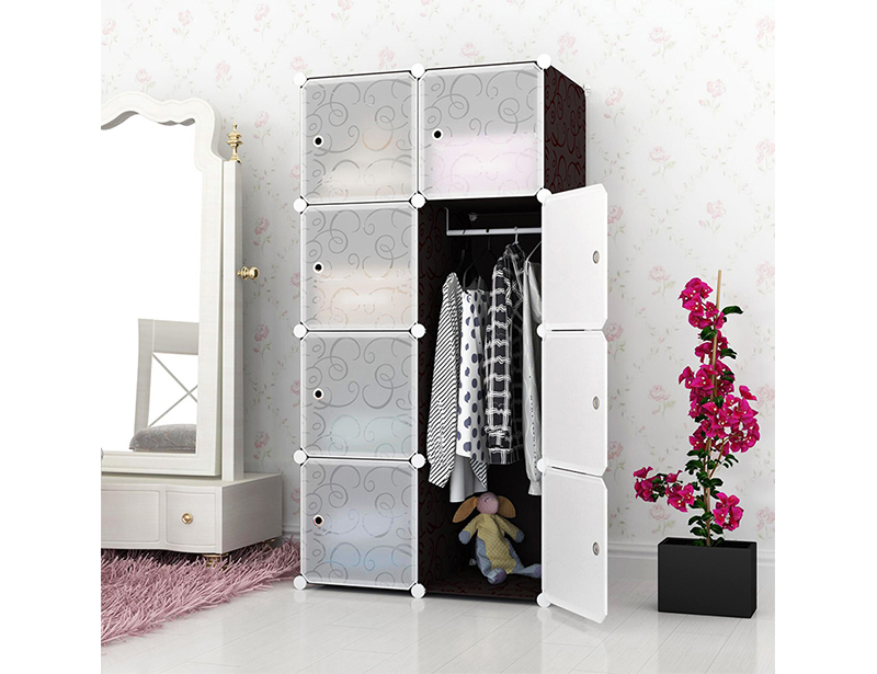 DIY Plastic Wardrobe Storage Cabinet