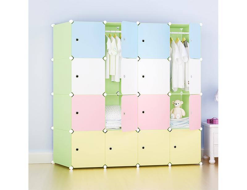 DIY Plastic Wardrobe Storage Cabinet for Children