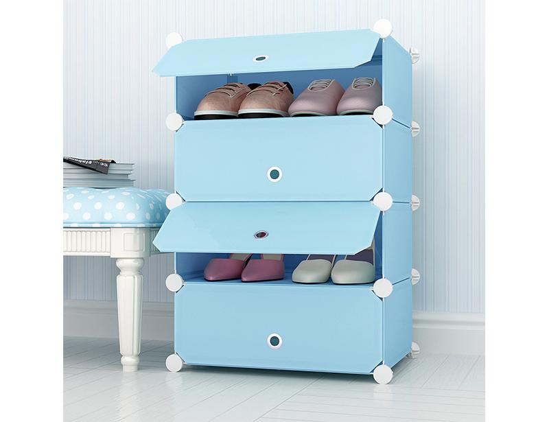 DIY Plastic Shoes Cabinet
