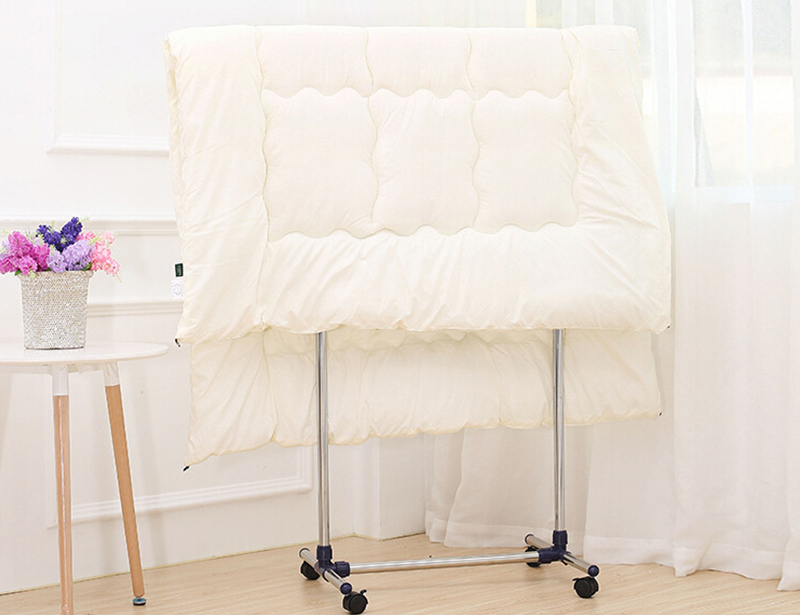 Adjustable Stainless Steel or Composite Strong Single Pole Clothes Drying Rack with Wheels