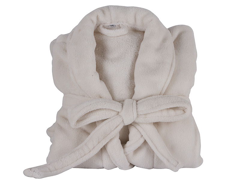 100% Polyester Coral Fleece or 100% Cotton Towel Bathrobe