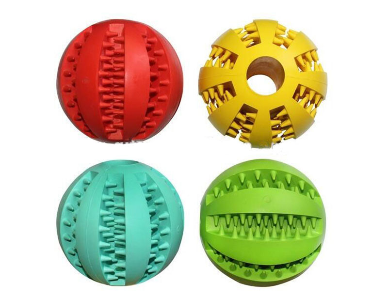 Rubber Pet Ball for Dog Chewing and Cleaning Teeth