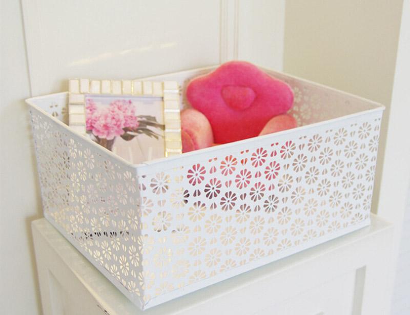 Iron Cosmetics Basket Sundries Storage Basket