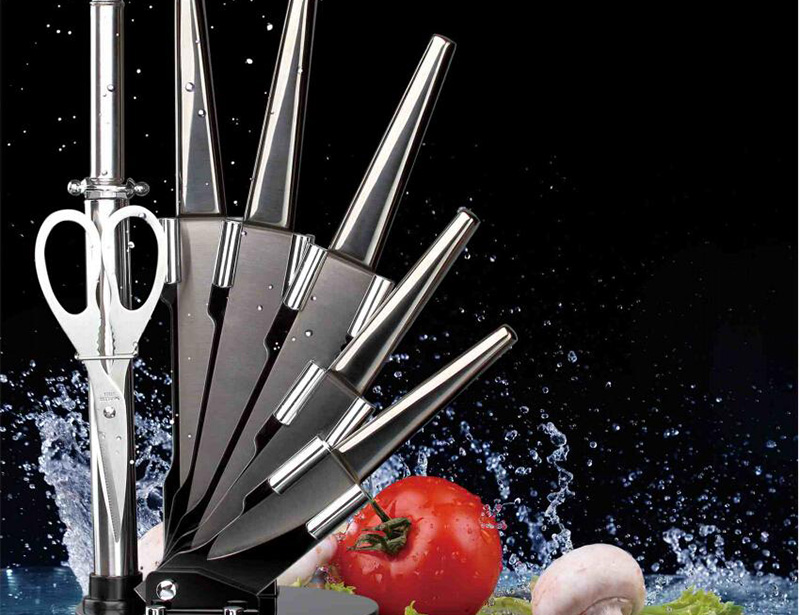 Stainless Steel 8pcs Kitchen Knife Set with Block