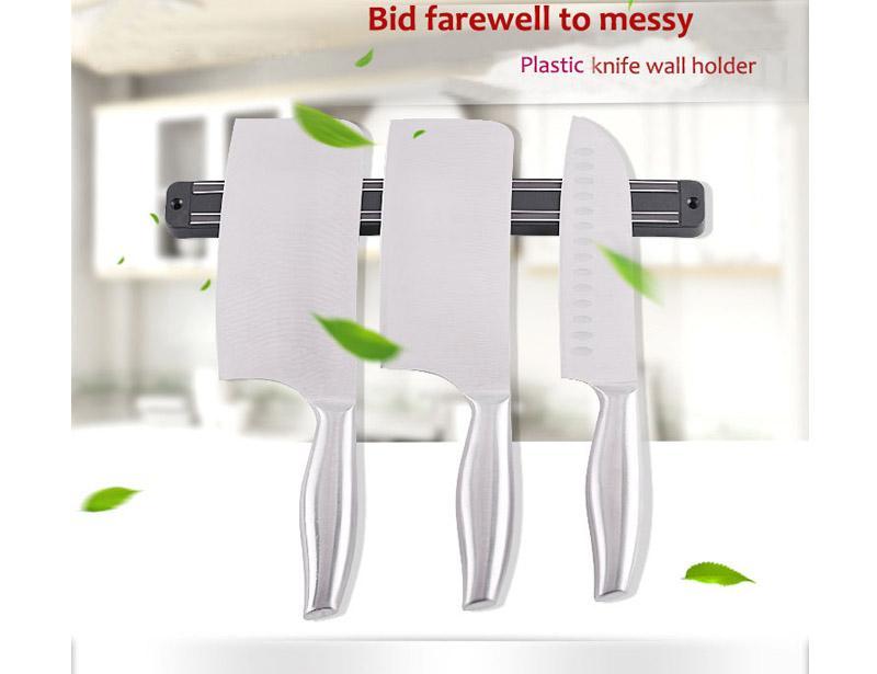 Plastic Magnetic Bar Knife Wall Holder