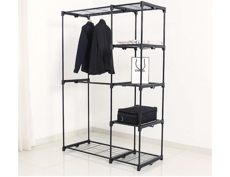 Metal Wardrobe Cabinet Clothes Rack Storage