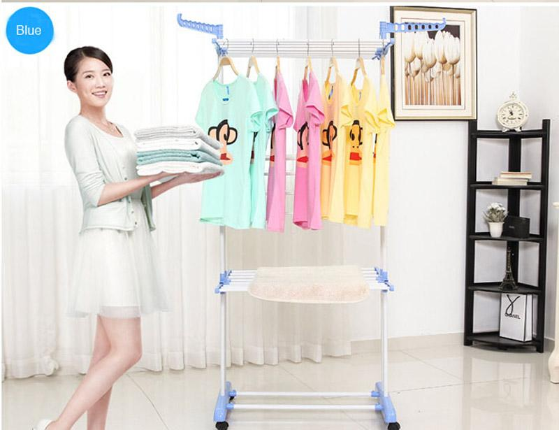 Tower Steel Coating Clothes Drying Rack with Wheel