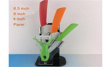 Features of ceramic knife set with block