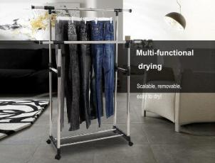 The benefits of adjustable double layer clothes drying rack